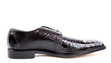 NEW Belvedere Siena Mens Genuine Ostrich Oxford Dress Shoes Black Lace Up