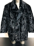 NEW Mens Genuine Mink 100% Real Authentic Fur Winter Double Breasted Jacket USA