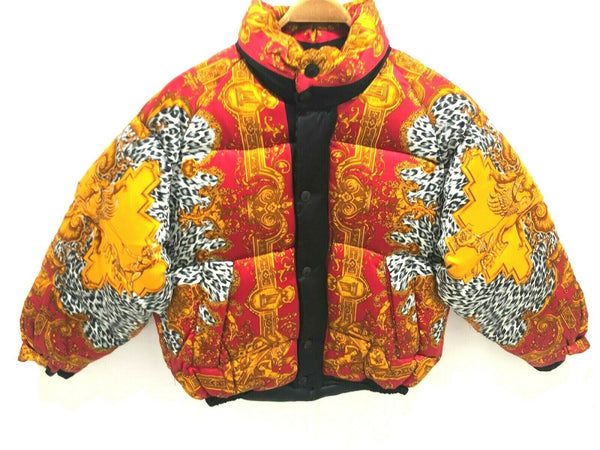 NEW CREME DE SILK Mens 100% Silk Soft Fashion Bomber Winter Puffer Jacket Medium
