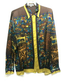 NEW Mens Creme De Silk Premium Fashion Classic Fit 100% Silk Shirt Size Large