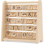 Konges Slojd ABC Wooden Block Frame - Modern Raised