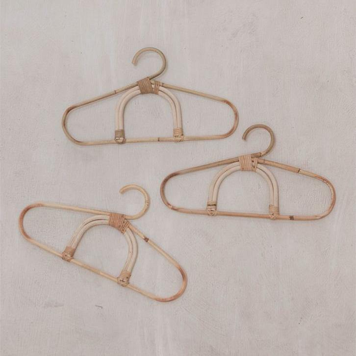 Rainbow Rattan Mini Hangers | Set of 3