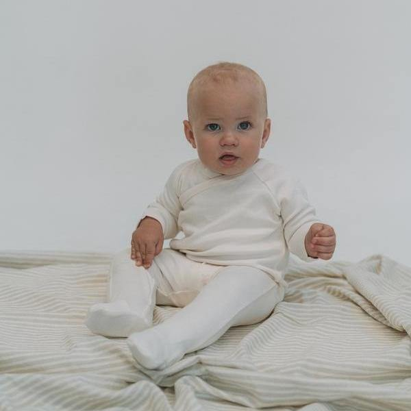 Footed Sleepsuit | Natural - Modern Raised