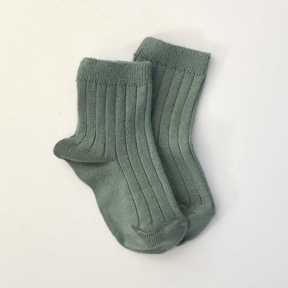 Ribbed Socks | Lichen Green