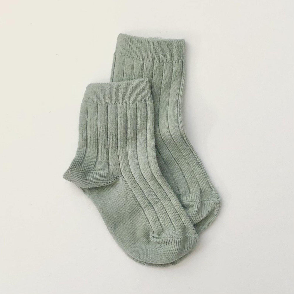 Ribbed Socks | Dry Green - Modern Raised