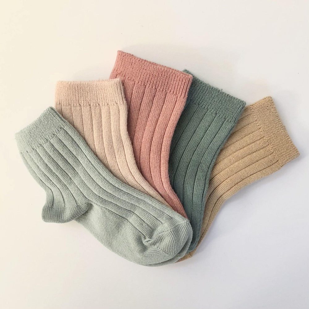 Ribbed Socks | Old Rose