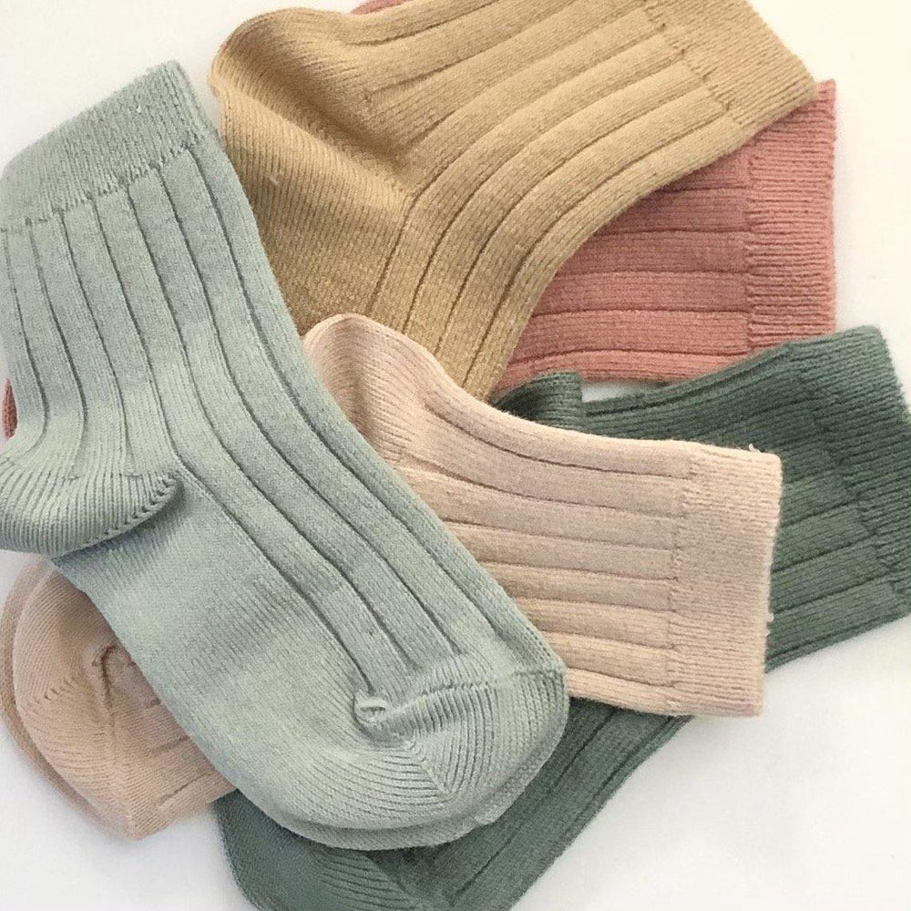 Ribbed Socks | Camel - Modern Raised