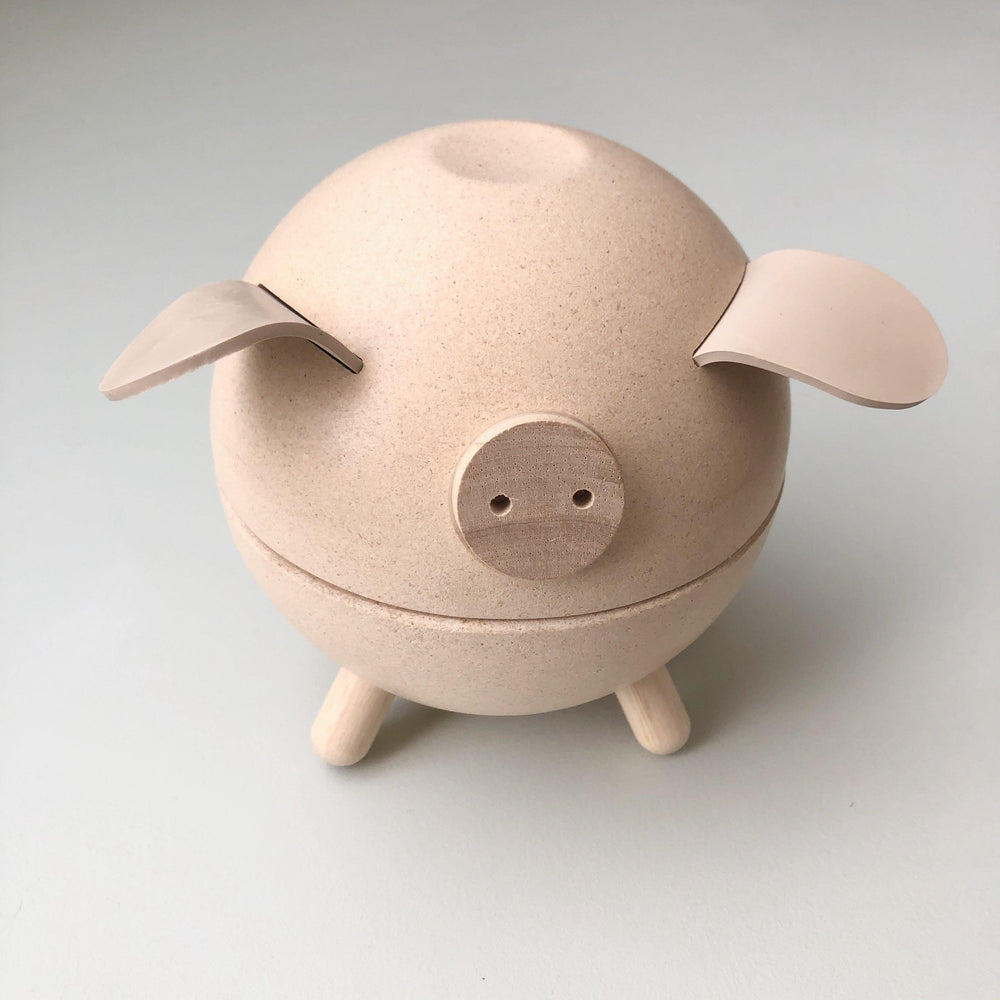 Piggy Bank | Natural - Modern Raised
