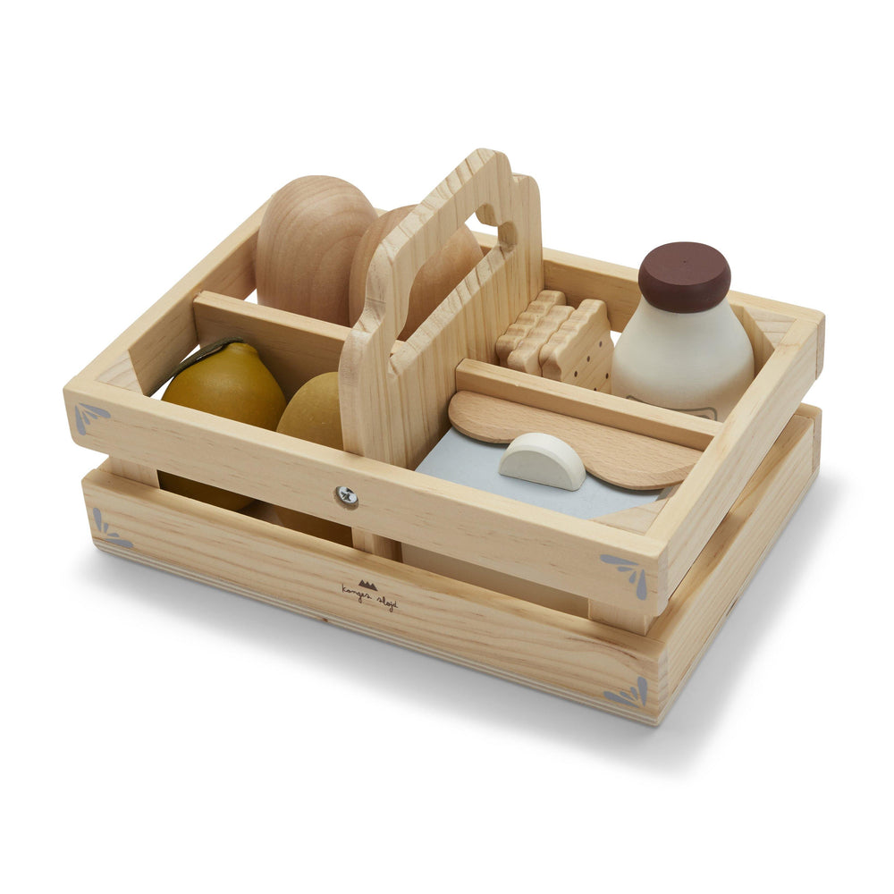 Wooden Play Food Box - Modern Raised