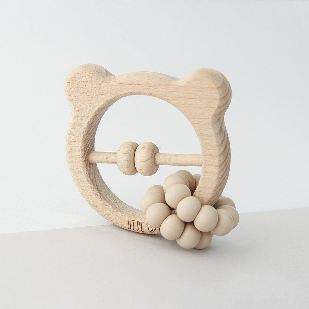 Silicone + Wood Bear Toy | Lukas