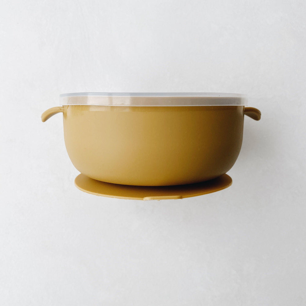 Silicone Suction Bowl | Mustard