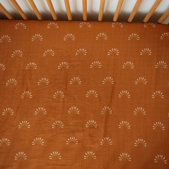 Sundown Muslin Crib Sheet