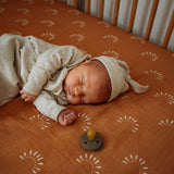 Sundown Muslin Crib Sheet - Modern Raised