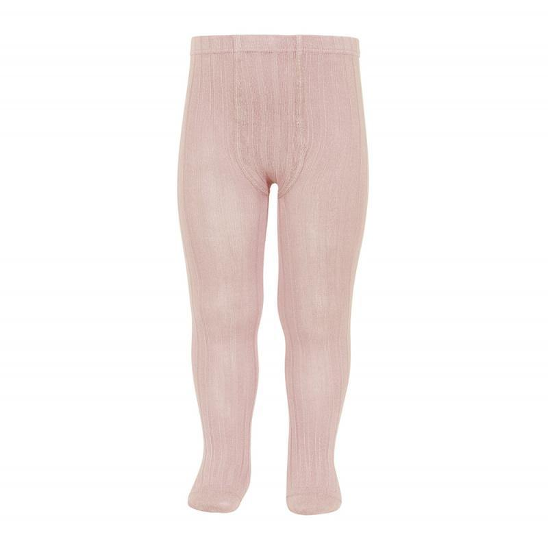 Ribbed Tights | Old Rose - Modern Raised