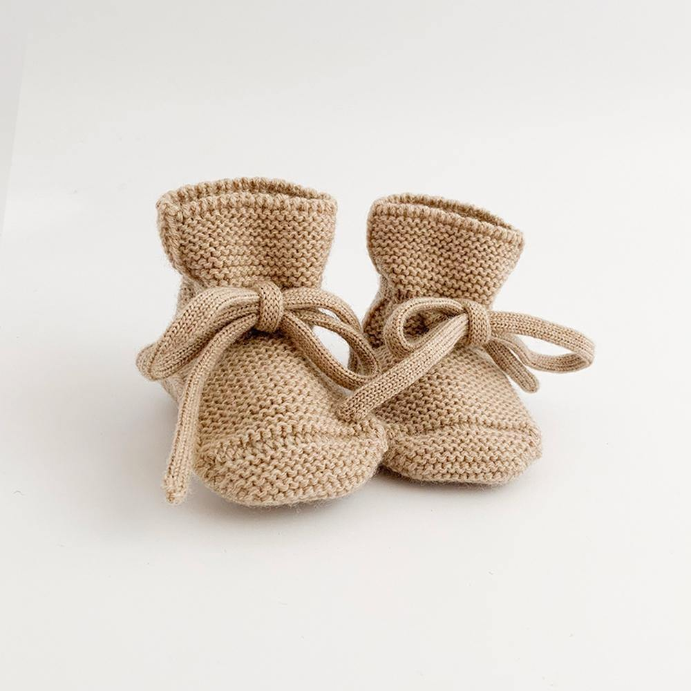 Knit Booties | Sand