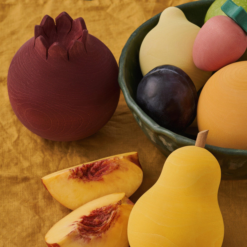 Wooden Fruits Set - Modern Raised