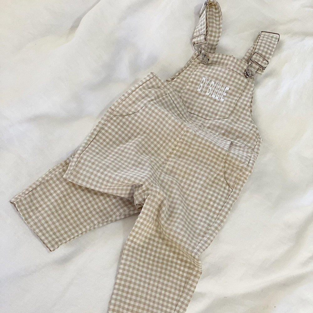Signature Overall | Gingham Biscuit