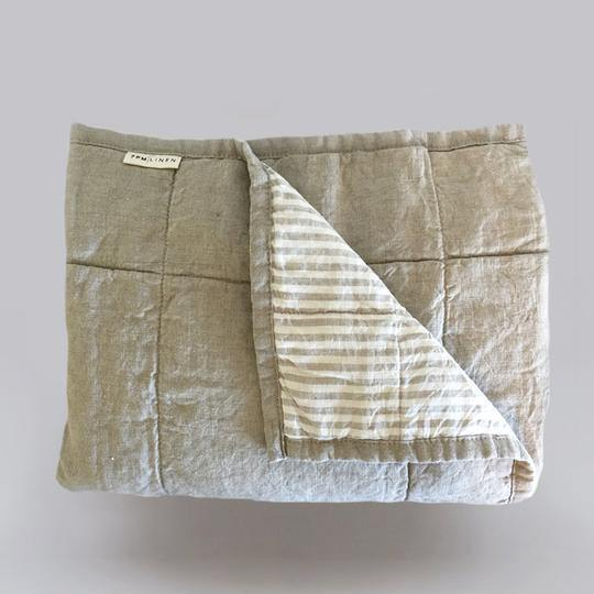 Reversible Quilted Blanket | Natural