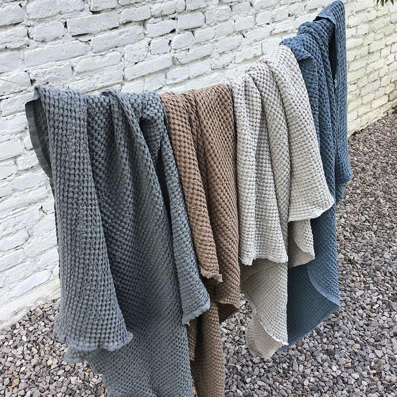 Waffle Blanket | Earth - Modern Raised