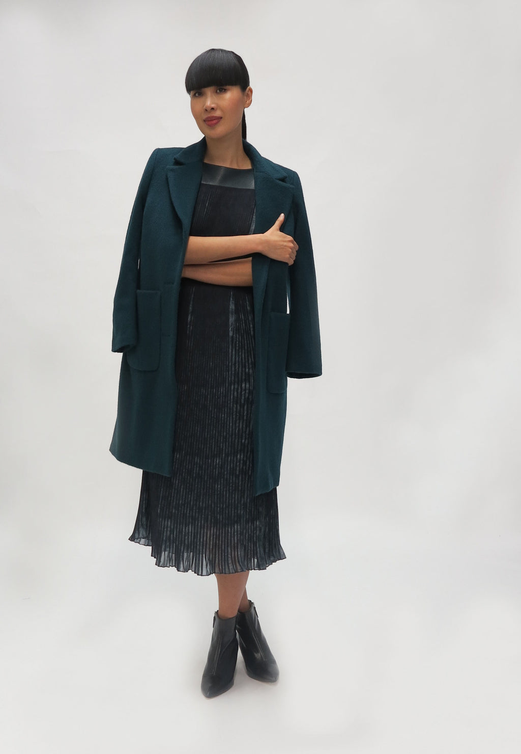 Fee G Wool Coat with Patch Pocket