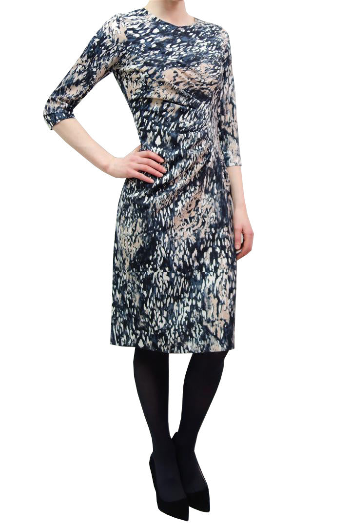Fee G printed jersey dress