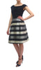 Lurex Stripe Dress with Contrast Top (7323/126)