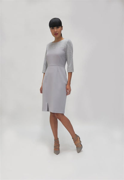 Lurex Tailored Dress ( 741175) Grey