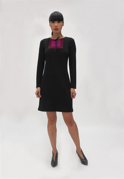 Jersey Dress  Square detail ( 742278) Black
