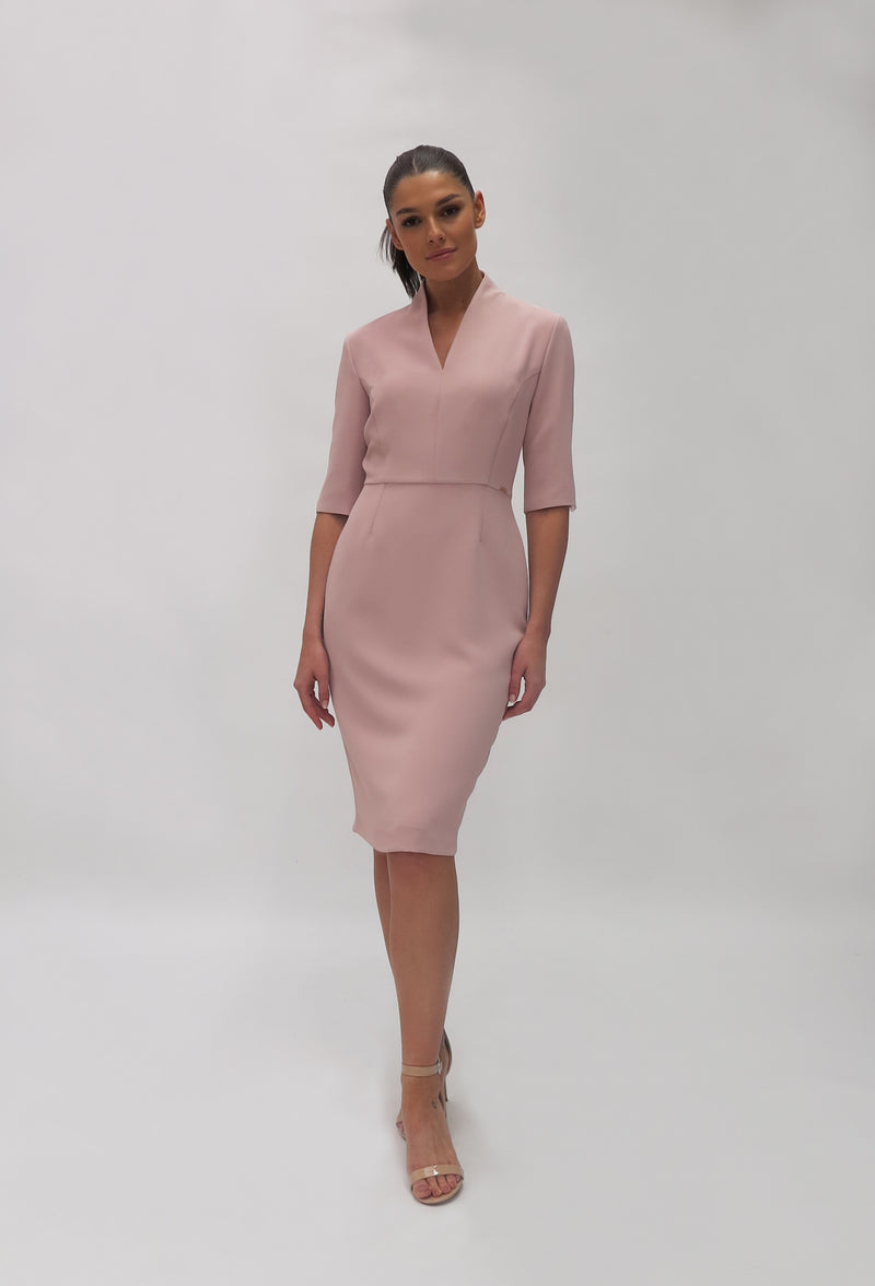 Tailored V neck dress (7429/113)