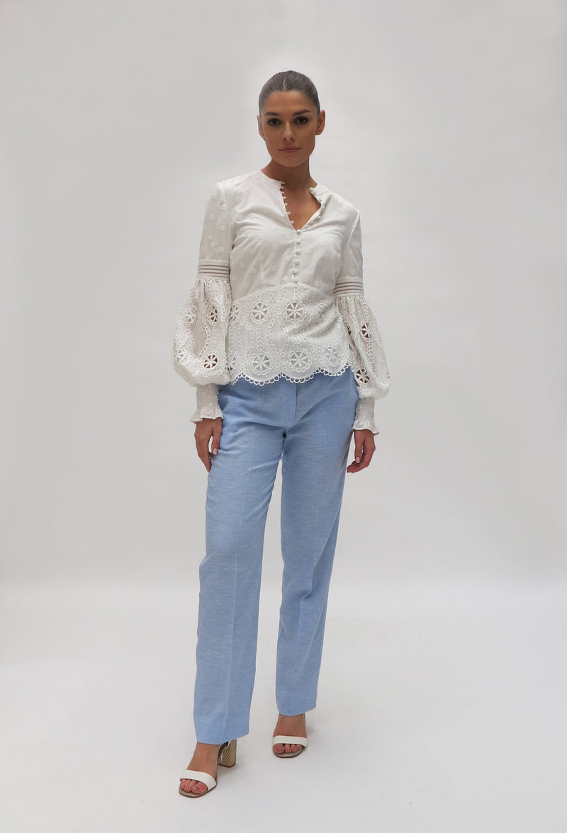 Broderie Anglaise Shirt (K7532)
