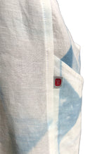Load image into Gallery viewer, Crossback Apron: Tenkozan Shibori on Organic Linen