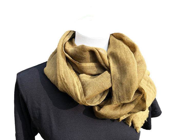 Pure Wool Scarf: Tenkozan Plain