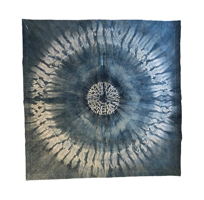 Altar Cloth: Organic Hemp Silk with Tenkozan Indigo Shibori