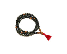 Load image into Gallery viewer, Serpentine and Olivewood Full Mala
