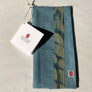 Liturgy Manual Cover -Tenkozan Shibori Patchwork
