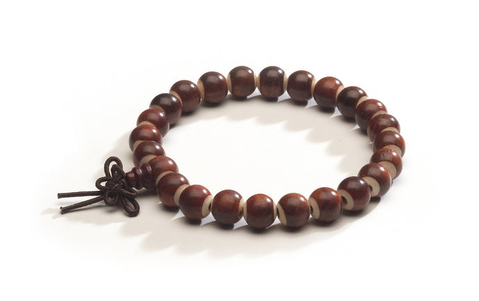 Rosewood and Yak Bone Wrist Mala