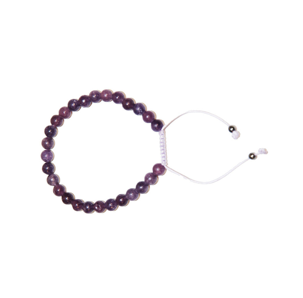 Lepidolite Adjustable Wrist Mala