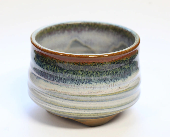 Rust Rim Incense Bowl