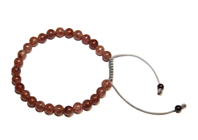 Strawberry Quartz Adjustable Wrist Mala