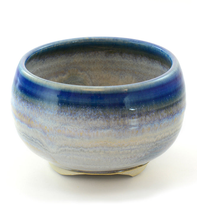 Blue Rim Japanese Ceramic Incense Bowl