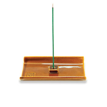 Ocher Ceramic Plate Incense Holder