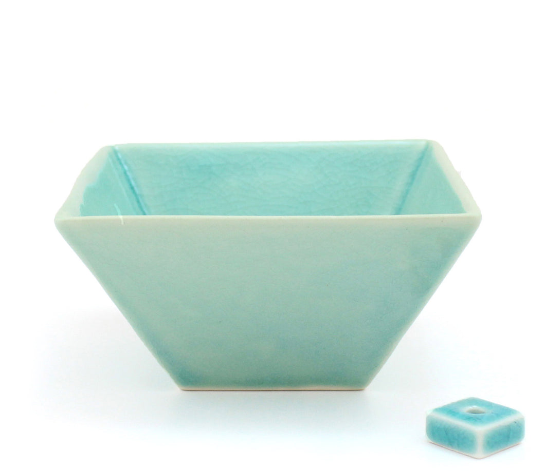 Celadon Square Bowl Incense Holder
