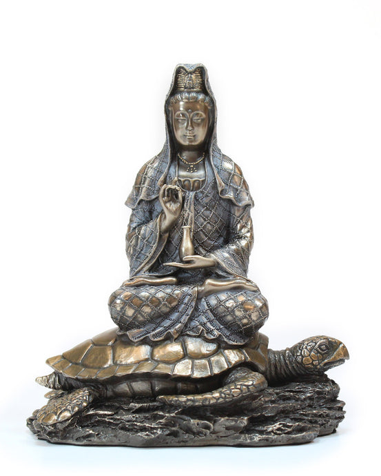 Kannon on Tortoise Statue