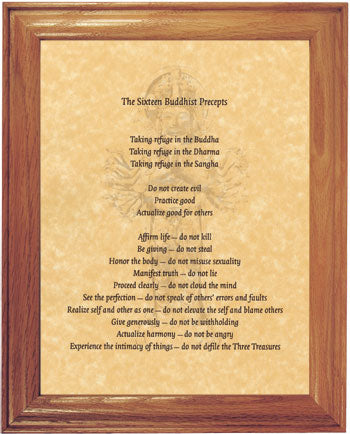 The Sixteen Buddhist Precepts