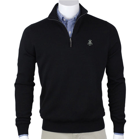 Baruffa Merino Quarter Zip Sweater
