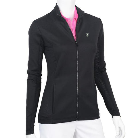Long Sleeve Water Resistant Double Knit Jersey Jacket