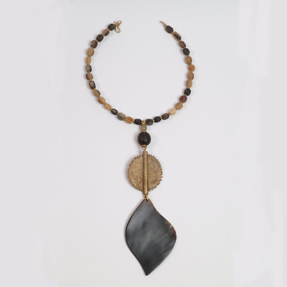 Tribal Necklace (Brass & Cow Bone)