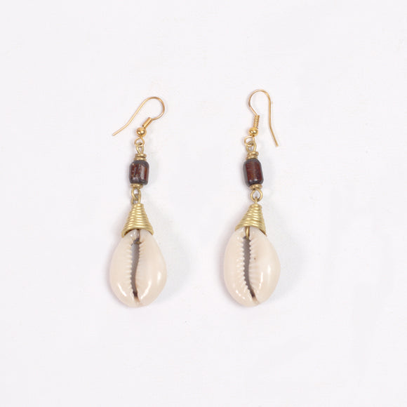 Tribal Earrings (Cowrie Shell)