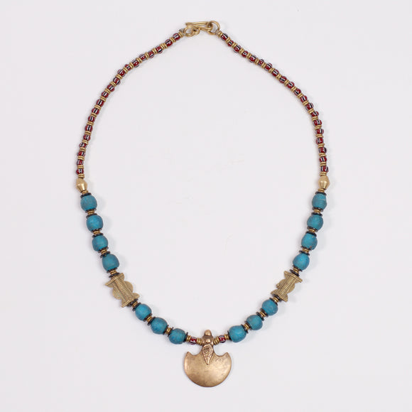 Tribal Kemit Necklace (Brass & Beads)
