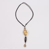 Tribal Necklace (Amber & Cowrie Shell)